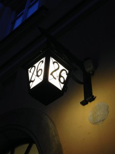 Night time lamp from Christmas travels in Krakow by Lydia Thornley