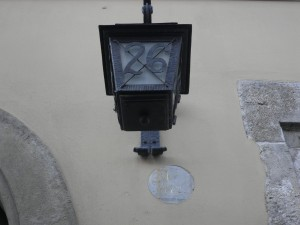 Daytime lamp from Christmas travels in Krakow by Lydia Thornley