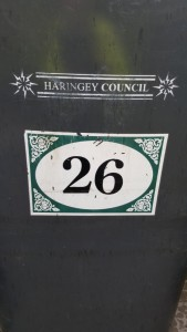 I live at number 26, and this is my bin! Rebecca Thomas
